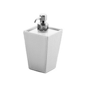 Gedy Soap Dispenser, 6-4/5'' H x 3-2/5'' W x 3-2/5'' D, White