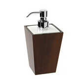 Gedy Soap Dispenser, 6-4/5'' H x 3-2/5'' W x 3-2/5'' D, Tanganyika