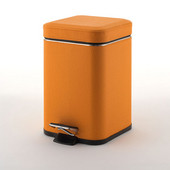 Gedy Waste Bin, 6-1/2''W x 8-7/16''D x 2-1/5''H, Orange
