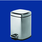 Gedy Waste Bin, 8''W x 10-3/5''D x 11-4/5''H, Chrome