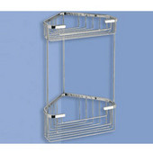 Wall Mounted Wire Corner Double Shower Basket, 0-7/10'' L x 5-9/10'' W x 12-9/10'' H, Chrome