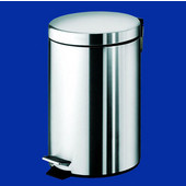 Gedy Waste Bin, 6-1/2''W x 7-1/2''D x 10-1/4''H, Chrome
