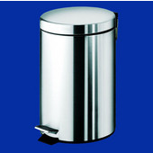 Gedy Waste Bin, 8-1/5''W x 10-1/5''D x 12-4/5''H, Chrome