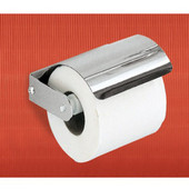 Wall Mounted Chrome Toilet Roll Holder with Cover, 4-4/5'' L x 4-9/10'' W x 3-1/10'' H, Chrome