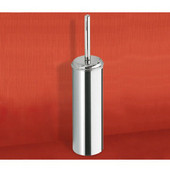 Free Standing Cylinder Chrome Toilet Brush Holder, 0'' L x 0'' W x 0'' H, Chrome