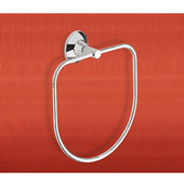 Wall Mounted Chrome Towel Ring, 0-7/10'' L x 2-1/10'' W x 8-3/5'' H, Chrome