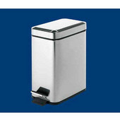 Gedy Waste Bin, 5-1/2''W x 11-1/2''D x 11-4/5''H, Chrome