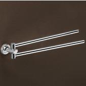 Gedy Towel Holder, 2-1/5'' H x 14-3/10'' W x 2-1/5'' D, Chrome