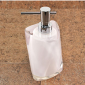Gedy Soap Dispenser, 6-1/5'' H x 3-7/10'' W x 3-7/10'' D, White