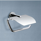 Gedy Toilet Paper Holder, 4-3/10'' H x 6'' W x 3-3/10'' D, Chrome
