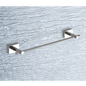 Wall Mounted 24 Inch Towel Bar with Wood Base, 23-3/5'' L x 2-1/10'' W x 1-1/10'' H, Wenge