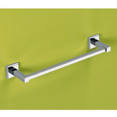 Wall Mounted 24 Inch Towel Bar, 23-3/5'' L x 3-1/10'' W x 1-1/2'' H, Chrome