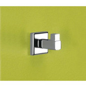 Wall Mounted Chrome Hook, 1-1/2'' L x 1-9/10'' W x 1-1/2'' H, Chrome