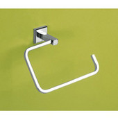Wall Mounted Chrome Towel Ring, 0-7/10'' L x 2-1/2'' W x 5-7/10'' H, Chrome