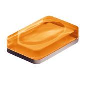 Rectangle Resin Soap Holder, 4-7/10'' L x 3-1/10'' W x 0-9/10'' H, Orange