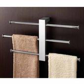 Gedy Towel Holder, 8-9/10'' H x 15-9/10'' W x 3-1/5'' D, Chrome