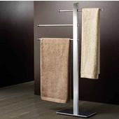 Gedy Towel Stand, 36-1/5'' H x 15-9/10'' W x 6-3/10'' D, Chrome