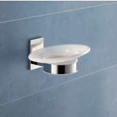 Gedy Soap Holder, 2-3/10'' H x 5-7/10'' W x 4-1/10'' D, Chrome