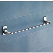 Gedy Towel Holder, 2-3/10'' H x 24-3/5'' W x 2-1/2'' D, Chrome