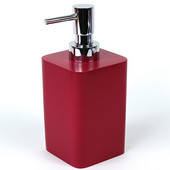 Square Resin Soap Dispenser, 2-9/10'' L x 2-9/10'' W x 6-2/5'' H, Ruby red