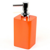 Square Resin Soap Dispenser, 2-9/10'' L x 2-9/10'' W x 6-2/5'' H, Orange