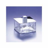 Windisch Crackled Glass Bath Jar in Satin Nickel