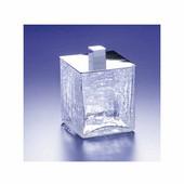 Windisch Crackled Glass Q-Tip Jar in Gold