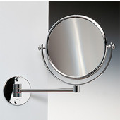 Windisch Double Face Wall Mounted 7X Magnifying Mirror with Optical Grade, Chrome