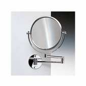 Windisch Double Face Wall Mounted 3X Magnifying Mirror, Chrome
