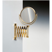 Windisch Double Face Wall Mounted 5X Magnifying Mirror with Optical Grade in Gold