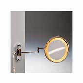 Windisch Incandescent Light Mirror with Direct Wired Connection 5X Magnifying Mirror, Chrome