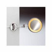 Windisch Incandescent Light Mirror with Two Arms 5X Magnifying Mirror in Gold