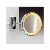Windisch Incandescent Light Mirror with One Arm Direct Wired 5X Magnifying Mirror, Chrome