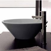 Cono 8010 Above Counter Bathroom Sink in White, Dia. 16-1/2''
