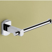 Gedy Toilet Roll Holder, 1-9/10'' H x 6-1/5'' W x 2-9/10'' D, Chrome