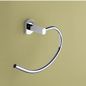 Gedy Towel Ring, 6-1/10'' H x 9'' W x 2-9/10'' D, Chrome
