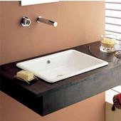 Gaia 50 Build-in Bathroom Sink in White, 22-1/10'' x 15-3/5''