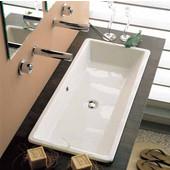 Gaia 80 Build-in Bathroom Sink in White, 34-1/2'' x 15-3/5''