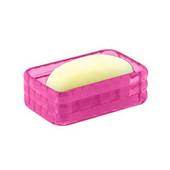 Resin Soap Holder, 5-1/10''W x 3-1/5''D x 1-3/5''H, Fuchsia