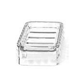 Resin Soap Holder, 5-1/10''W x 3-1/5''D x 1-3/5''H, Transparent