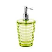Round Resin Soap Dispenser, 3-1/3''W x 3-1/3''D x 6-2/3''H, Acid Green