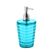 Round Resin Soap Dispenser, 3-1/3''W x 3-1/3''D x 6-2/3''H, Turquoise