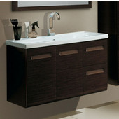 Iotti by  Integral NG1 Wall Mounted Single Sink Bathroom Vanity in Natural Oak, 38-5/16'' Wide (Includes: Main Cabinet and Sink Top)