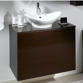 Iotti by  Time NT9 Wall Mounted Single Sink Bathroom Vanity in Grey Oak, 31-1/2'' Wide (Includes: Main Cabinet, Wooden Top and Sink)