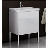 Iotti by  Space SE01 Wall Mounted Single Sink Bathroom Vanity in Wenge, 23-1/5'' Wide (Includes: Main Cabinet and Sink Top)