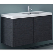 Iotti by  Space SE03 Wall Mounted Single Sink Bathroom Vanity in Wenge, 39'' Wide (Includes: Main Cabinet and Sink Top)