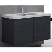 Iotti by  Space SE04 Wall Mounted Single Sink Bathroom Vanity in Wenge, 39'' Wide (Includes: Main Cabinet and Sink Top)