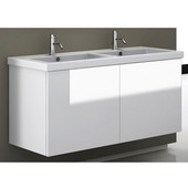 Iotti by  Space SE06 Wall Mounted Double Sink Bathroom Vanity in Multiple Finishes, 46-4/5'' Wide (Includes: Main Cabinet and Sink Top)