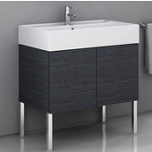 Iotti by  Smile SM03 Wall Mounted Single Sink Bathroom Vanity in Multiple Finishes, 31-7/64'' Wide (Includes: Main Cabinet and Sink Top)