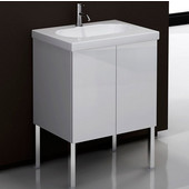Iotti by  Trendy TR01 Wall Mounted Single Sink Bathroom Vanity in Wenge, 23-1/5'' Wide (Includes: Main Cabinet and Sink Top)